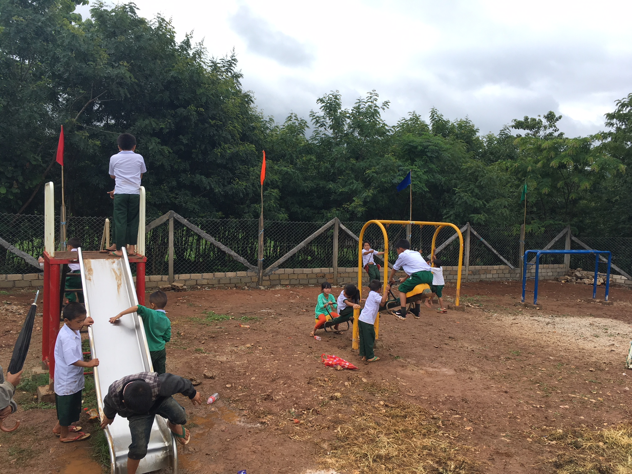 Pupils on the playground