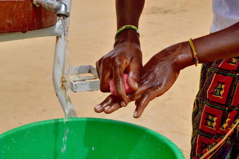 Händewaschen mit Seife