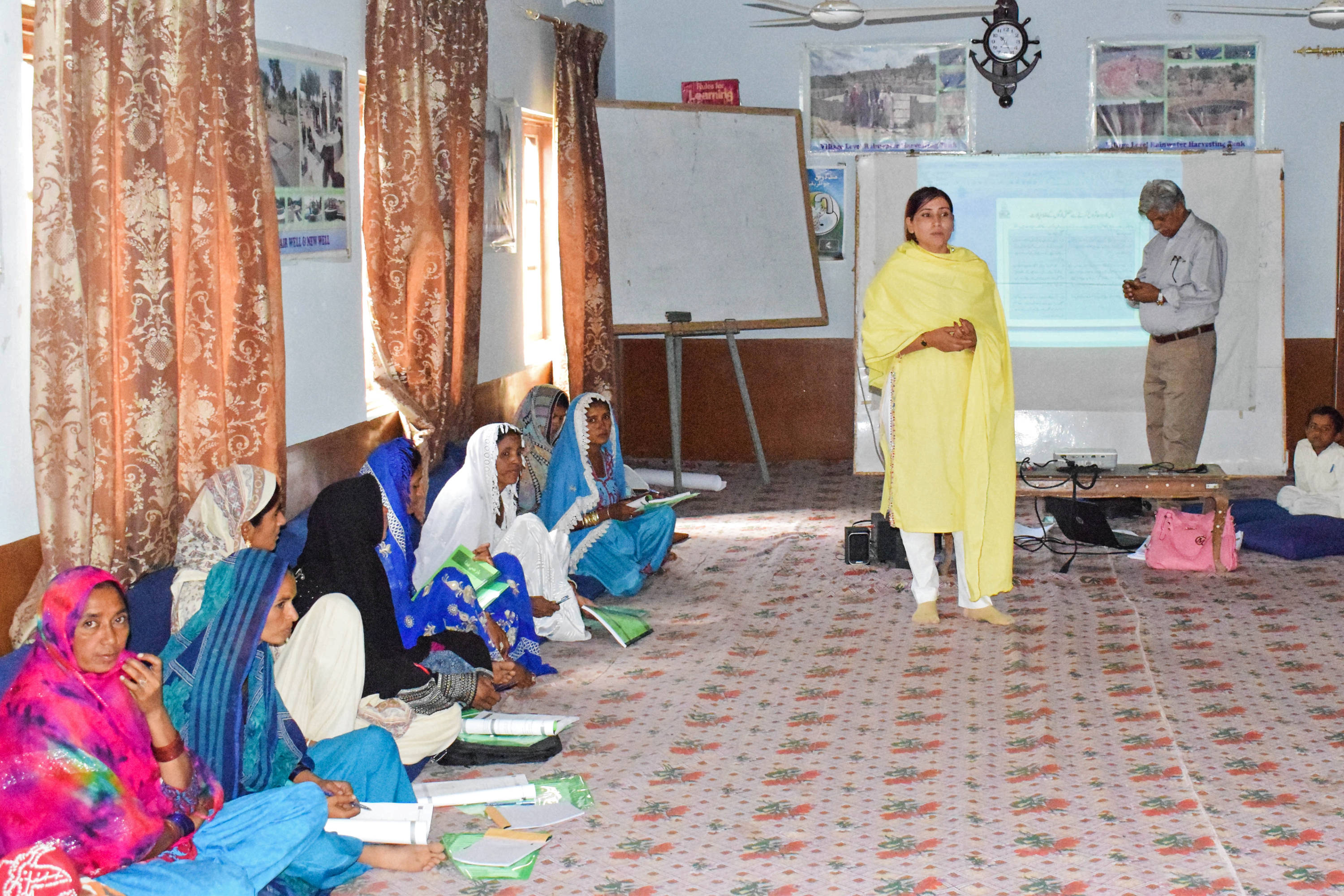 Future health workers during a workshop